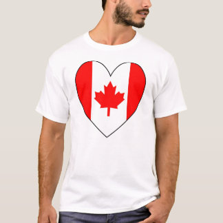Heart-shaped Canadian Flag Valentine T-Shirt