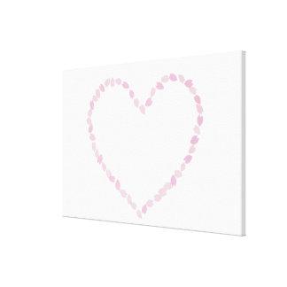 Heart Shaped Cherry Blossom Canvas Print