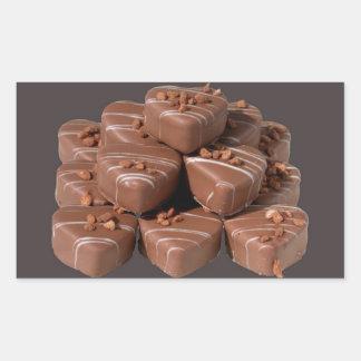 Heart Shaped Chocolates Rectangular Sticker