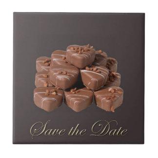 Heart Shaped Chocolates Ceramic Tile