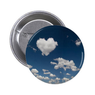 Heart shaped cloud 6 cm round badge