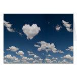 Heart shaped cloud greeting card