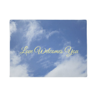 Heart-shaped Clouds Mat