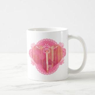 Heart Shaped Door with Skeleton Key Coffee Mug