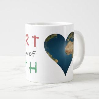 Heart Shaped Earth anagram Heart Jumbo Mug