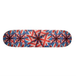 Heart Shaped England Flag Pattern Design Skateboard Decks