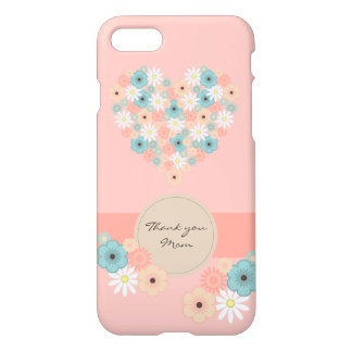 Heart shaped flowers to say Thank you Mom iPhone 8/7 Case