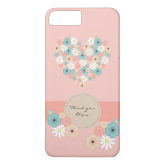 Heart shaped flowers to say Thank you Mom iPhone 8 Plus/7 Plus Case