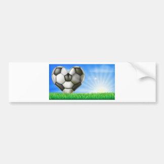 Heart shaped football ball bumper stickers