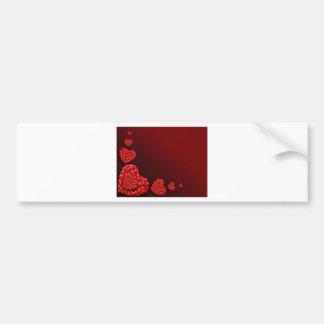 Heart shaped Hearts Bumper Sticker