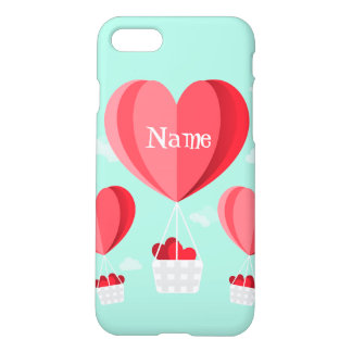 Heart shaped hot air balloons iPhone 8/7 case