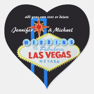 Heart Shaped Las Vegas Wedding Heart Sticker