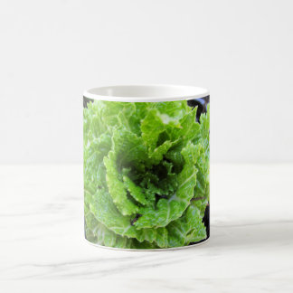 Heart-shaped Lettuce Leaves Mug