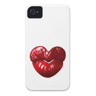 Heart Shaped Lips iPhone 4 Case