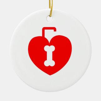 Heart shaped lock round ceramic decoration