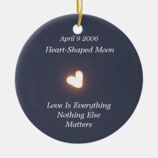 Heart-Shaped Moon ornaments