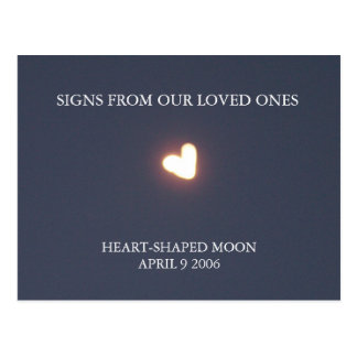 Heart-shaped moon post card