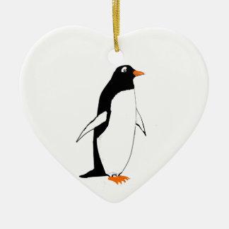 heart shaped Ornament Penguin
