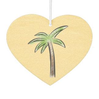 Heart shaped Palm tree Car Air Freshener