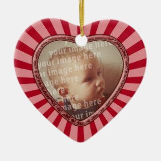 Heart Shaped Photo Frame Ceramic Heart Decoration