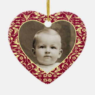 Heart Shaped Photo Frame Floral Ceramic Heart Decoration