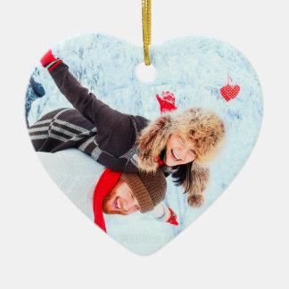 Heart Shaped Photo Ornaments   Christmas Holiday