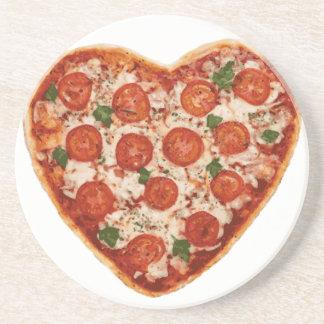 heart shaped pizza coaster