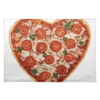 heart shaped pizza placemat