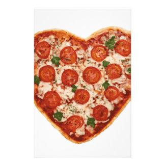 heart shaped pizza stationery