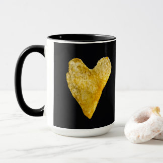 Heart Shaped Potato Chip Mug