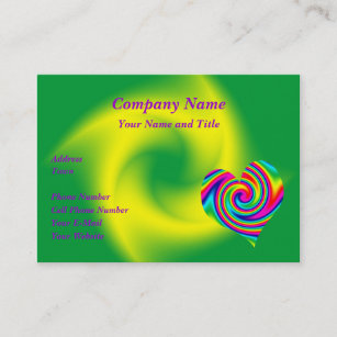 Heart shaped business cards zazzle au heart shaped rainbow twirl business card colourmoves