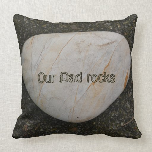 Heart shaped rock pillow with custom Text