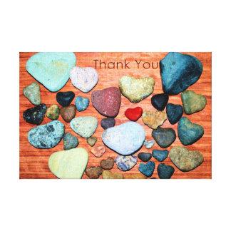 Heart-Shaped Rocks Show Gratitude Canvas Prints
