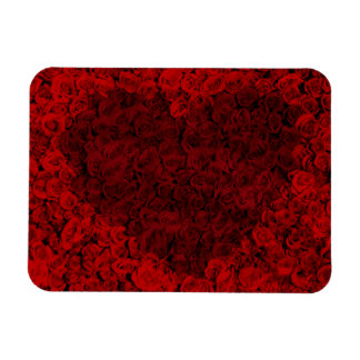 Heart-shaped sea of roses magnet