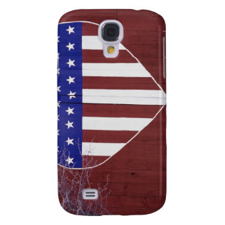 Heart-Shaped Stars and Stripes Galaxy S4 Cases