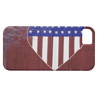 Heart-Shaped Stars and Stripes iPhone 5 Cover