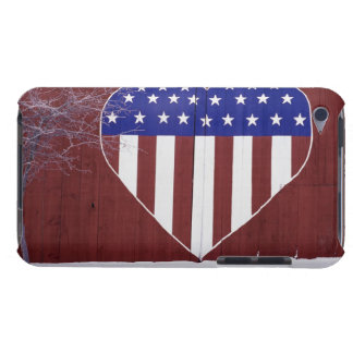 Heart-Shaped Stars and Stripes iPod Touch Cover