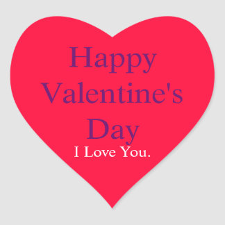 Heart Shaped Sticker - Happy Valentine s Day