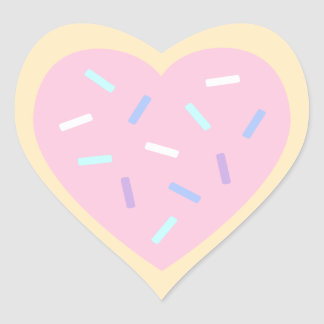 Heart Shaped Sugar Cookie Stickers