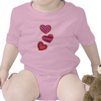 Heart-Shaped Sugar Cookies Valentine's Day Suit Baby Bodysuit