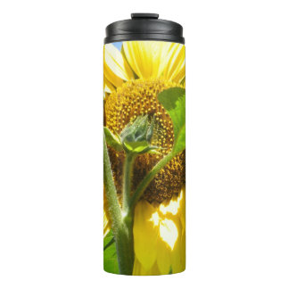 Heart Shaped Sunflower Thermal Tumbler
