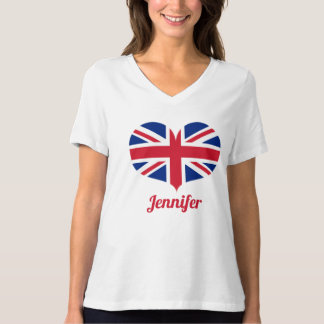 Heart Shaped UK Flag | Personalized T-Shirt