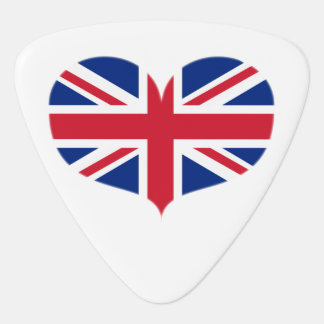 Heart Shaped United Kingdom Flag / Union Jack Guitar Pick