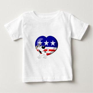 Heart-shaped USA Flag T-shirts