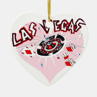 Heart Shaped Vegas Gambling Icons Ceramic Heart Decoration
