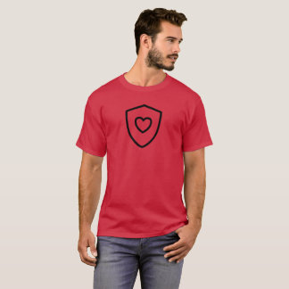 Heart Shield on Cardinal T-Shirt