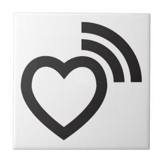 heart signaling love ceramic tile