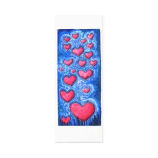 heart sky canvas print