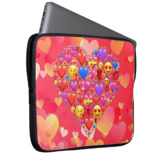 Heart smiley laptop computer sleeves