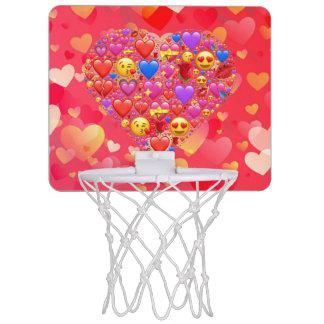 Heart smiley mini basketball hoop